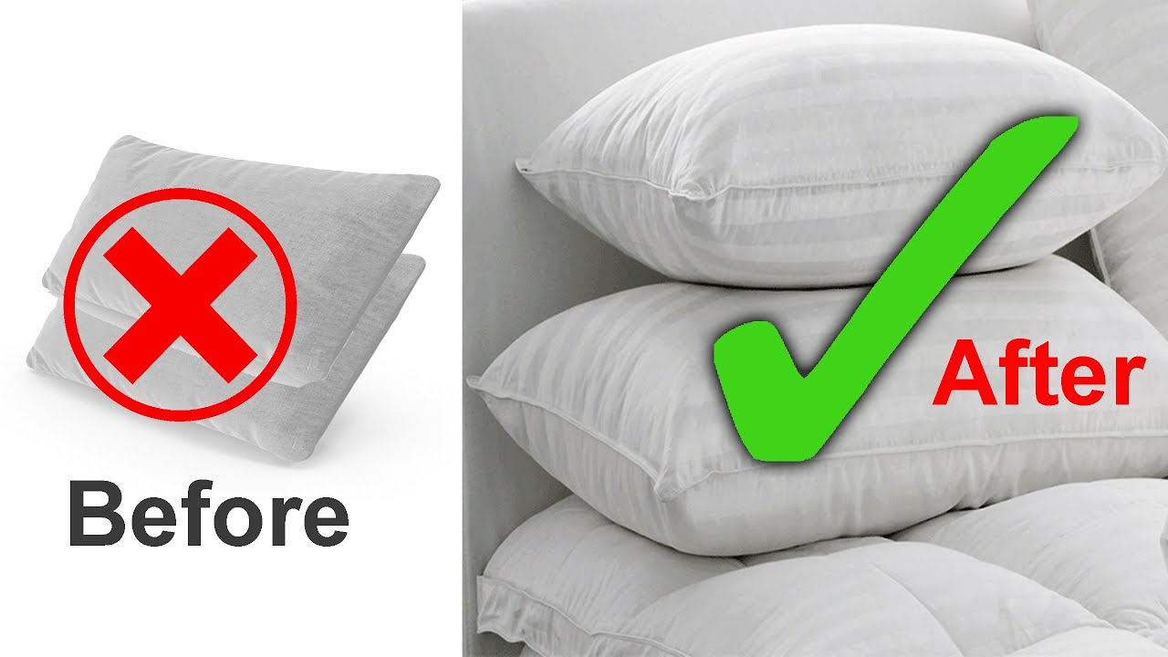 how to make pillows fluffy again