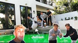 MARTINEZ TWINS THROW JULIAN INTO THE LAGOON! // CHALLENGE WITH JAKE PAUL