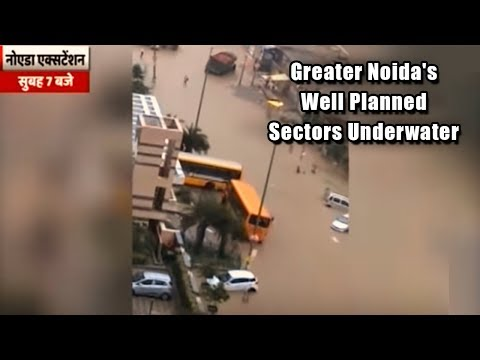 Greater Noida's Well Planned Sectors Underwater In Two Hours Of Heavy Rain | ABP News
