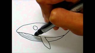 Simple Art Style- How to draw a Whale