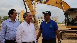 """Danilo Medina en Ciudad Juan Bosch: """"Vine a ver, ¿díganme, cómo van los trabajos?"""""""
