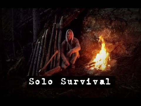 Solo Bushcraft - How to Survive in the Boreal Forest-
