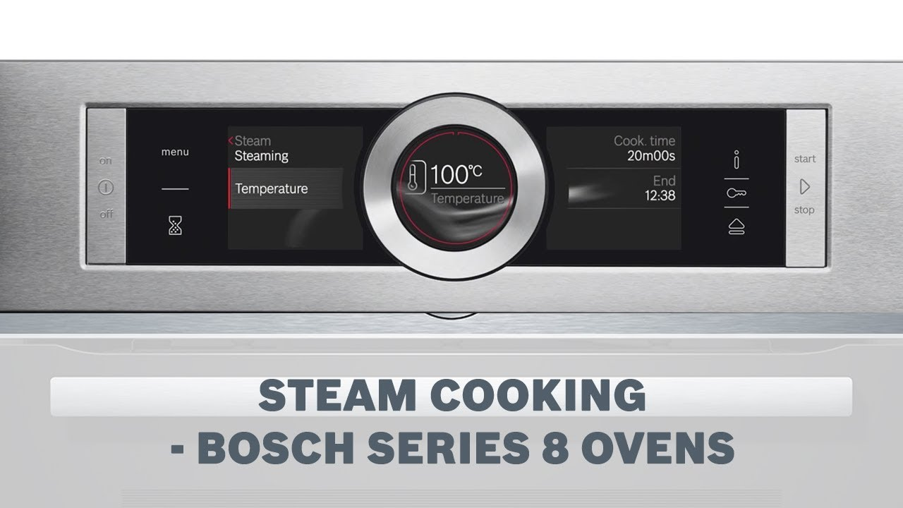 steam cooking function bosch series 8 ovens youtube. Black Bedroom Furniture Sets. Home Design Ideas