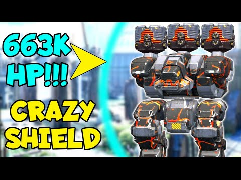 Unbelievable! FURY ANCILE 663,888 Energy Shield HP Protecting Titans   War Robots MK2 Gameplay WR
