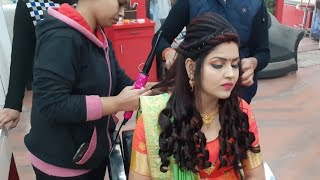 Real party & wedding hairstyle with crimping for beginners// step by step easy & simple method