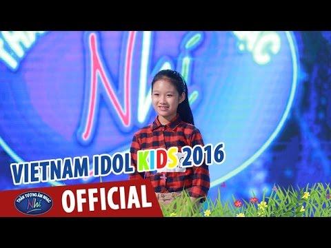 VIETNAM IDOL KIDS - THẦN TƯỢNG ÂM NHẠC NHÍ 2016 - GÁNH HÀNG RAU - THANH THẢO