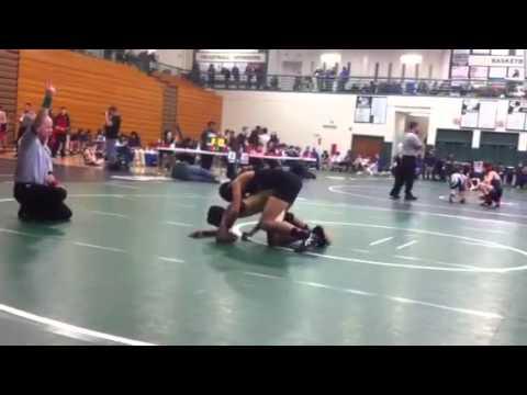 113lbs Hunter Reed vs Hiram High School
