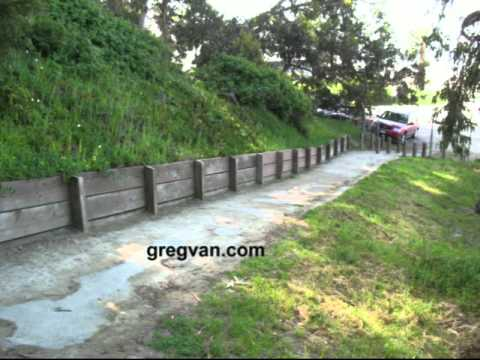 Low Cost Landscaping wood retaining wall tips - low cost landscaping - youtube