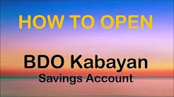 How to Open BDO Kabayan Savings Account