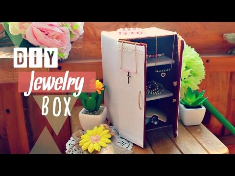 diy crafts how to make a jewelry box joyero recycled cardboard youtube. Black Bedroom Furniture Sets. Home Design Ideas