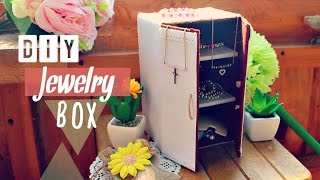Diy Crafts: How To Make A  Jewelry Box Using Recycled Cardboard - 소품 만들기