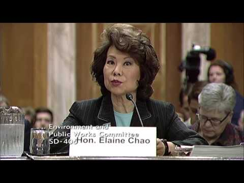 Chairman Barrasso Questions Secretary Chao on Ways to Streamline Projects