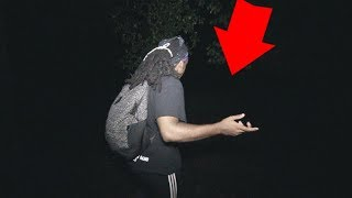 SCARY 3AM CHALLENGE IN THE WOODS!!! **WE FOUND SOMEONE**