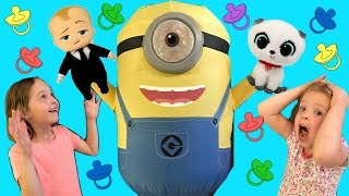 Kid's Variety Show ~ Toy Haul with BOSS BABY and HUGE Minion ~ Episode #2