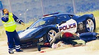 Полицейские Будни в GTA 5 - ПЕРЕСТРЕЛКА НА УЛИЦЕ С БАНДИТАМИ. НАПАДЕНИЕ НА ДПС. РАЗДАЧА ШТРАФОВ.