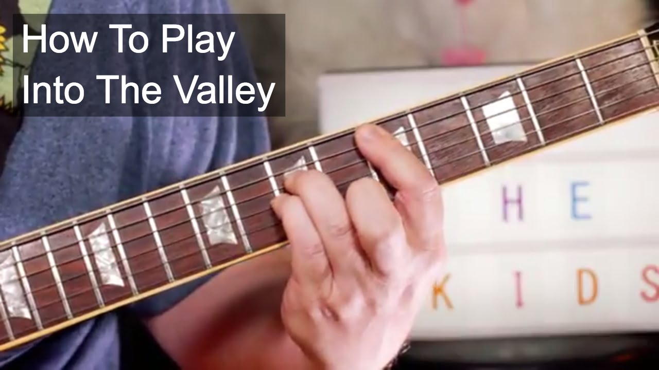 Into The Valley The Skids Guitar Lesson Youtube