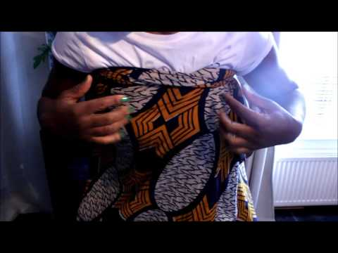 How to carry baby/child on your back: African style