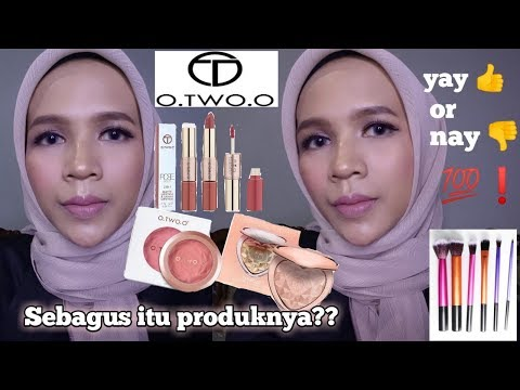 review-o.-two.-o-cosmetics,-blush-on,-highlighter,-lip-cream-2-in-1-||-first-impressions