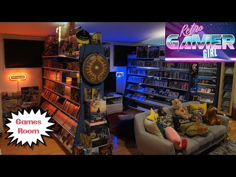 Games Room Tour Day Vs Night Huge Collection   Retro Gamer Girl