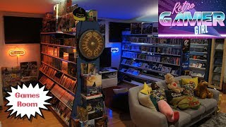 Games Room Tour Day Vs Night Huge Collection | Retro Gamer Girl