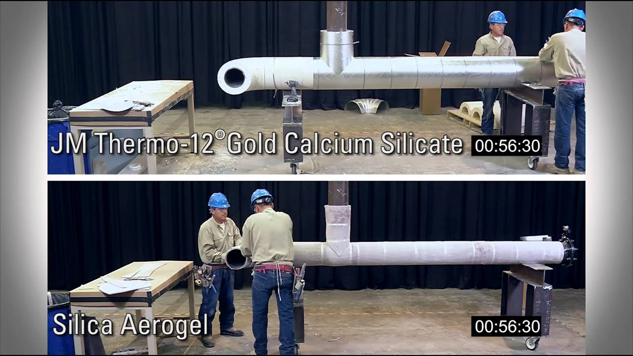 Calcium Silicate With Mirror Backing : Industrial pipe insulation installation thermo gold