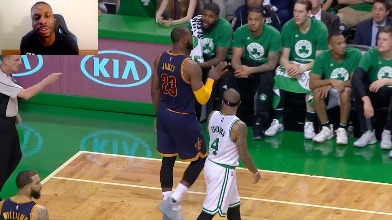95b2218d20a LMAO LEBRON JAMES BLOCKS ISAIAH THOMAS SHOT AND THEN TALKS TRASH AFTER! NBA  PLAYOFFS!