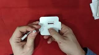 Переходник Apple Lightning на 3.5mm Jack, распаковка, обзор, опыт пользования