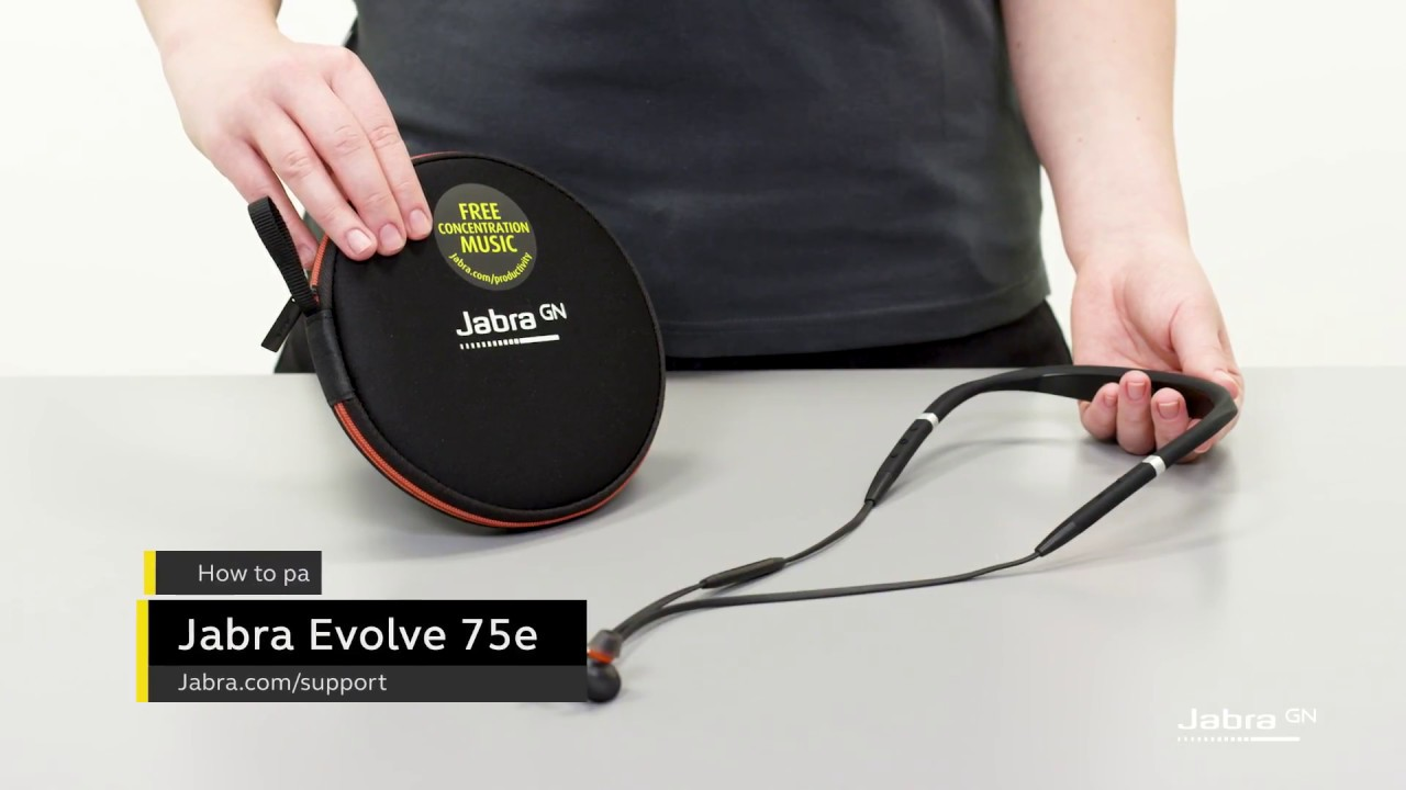 How To Pair And Connect Your Jabra Evolve 75e Youtube