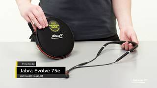 How to pair your Jabra Evolve 75e to your mobile phone