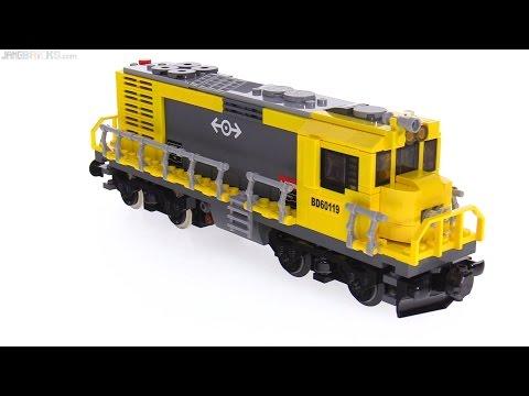 Build & run ⏩ New custom LEGO train locomotive MOC