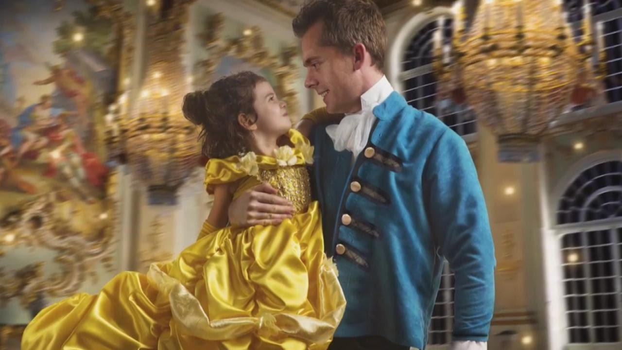 Dad Gifts Daughter Surprise Beauty And The Beast Photo