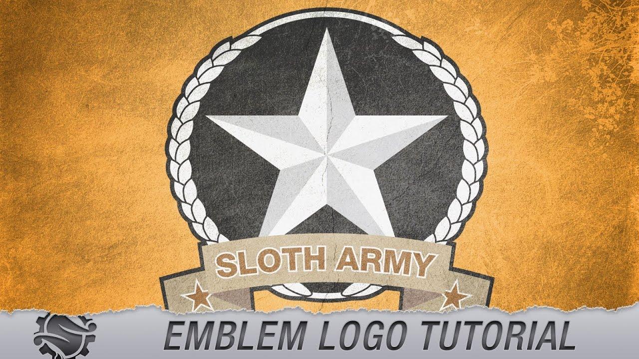 tutorial emblem style logo design slothwerx designs youtube