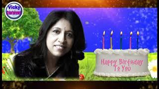 Kavita Krishnamurti birthday whatsapp status, By Vicky Entertainment