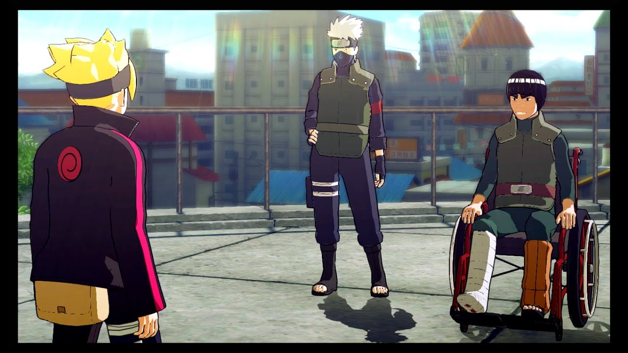 Kakashi and Might Guy - Rebuilding the Chunin Exam Hall