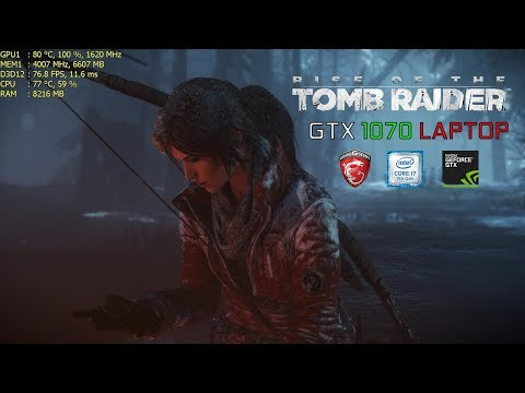 Rise of The Tomb Raider | i7 7700HQ & GTX 1070 Laptop | MSI GE72MVR