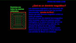 propiedades imanes, dominios magneticos, magnetismo, lantanidos, espines