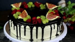 Как сделать шоколадную глазурь для торта/Шоколадные подтеки на торте