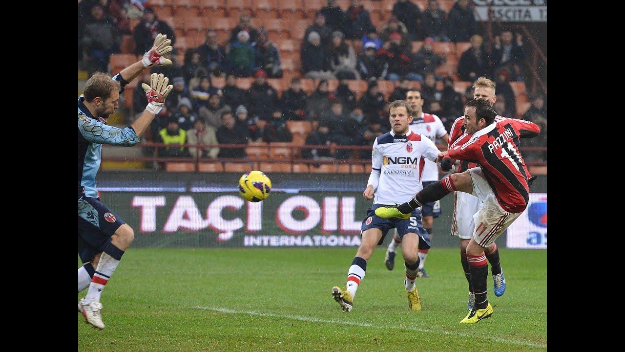 2012 - 2013 Vòng 21: Milan 2 - 1 Bologna - YouTube