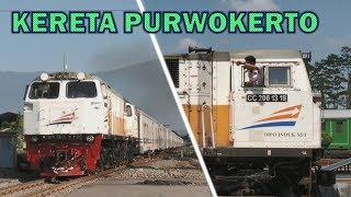 Keramaian Kereta Api di Stasiun Purwokerto : Serayu, Ranggajati, Sawunggalih, Fajar Utama Yogya