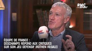 Équipe de France : Deschamps répond aux critiques sur son jeu défensif (Rothen régale)