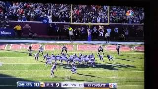 Vikings miss field goal - Seahawks fans CRAZY reaction!