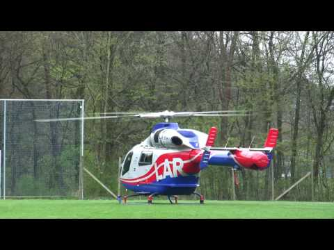 Luxembourg Air Rescue LAR Take-off Metterich Germany Deutschland MD Helicopter 902