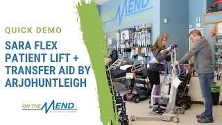 Quick Demo: Sara Flex Patient Lift + Transfer Aid by ArjoHuntleigh