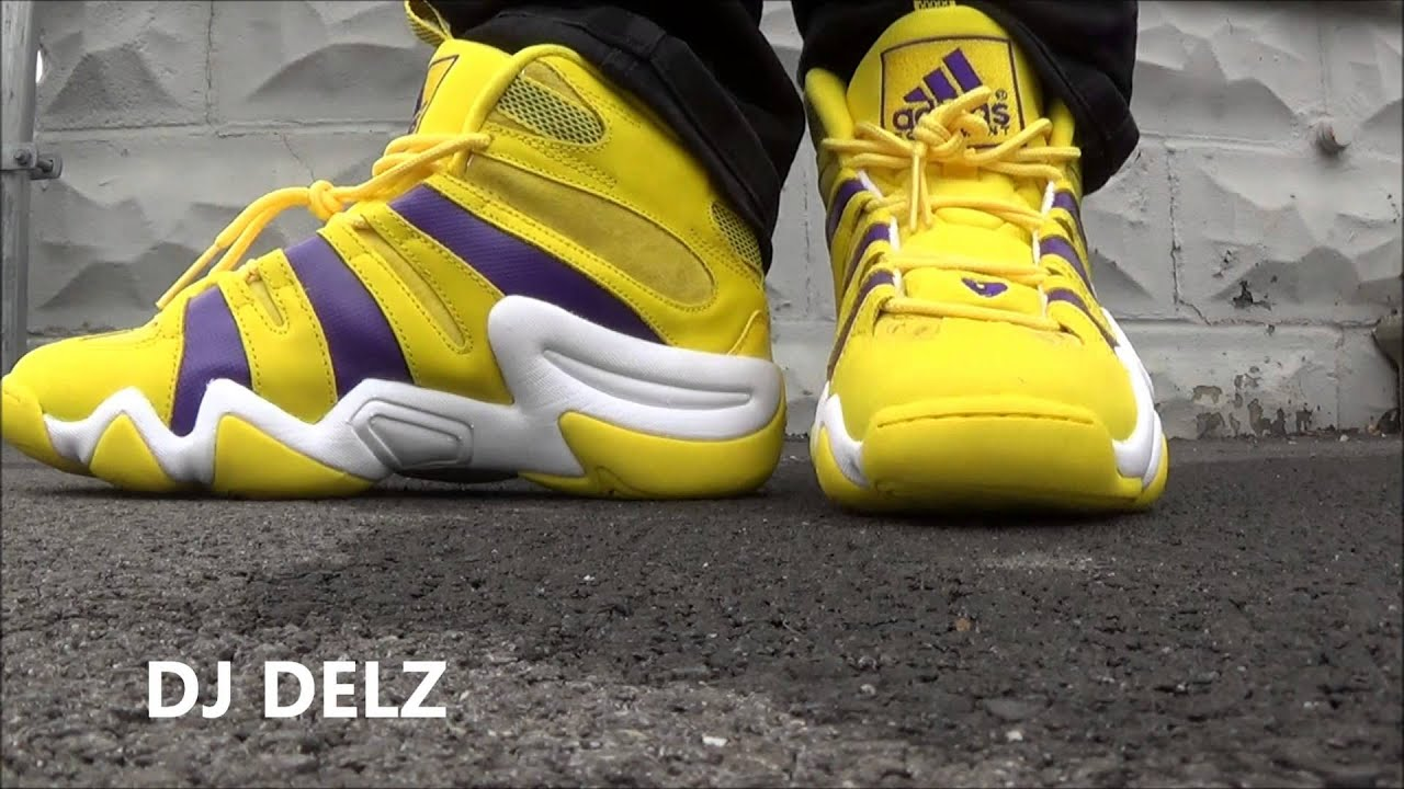 on sale cbe2f 04217 Adidas Crazy 8 Lakers Kobe Justin Bieber NBA Celeb Allstar PE Sneaker  Review W Dj Delz