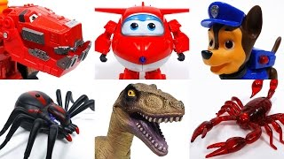 Toys Vs. Toys~! Go Dinotrux Superwings Paw Patrol