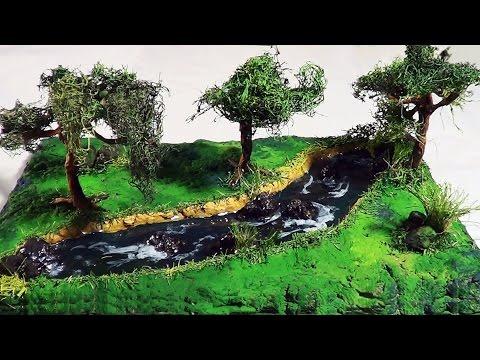 DIORAMA – Maquete – Paisagem com rio / Maquete scenery with river / (diorama) Paisaje con río