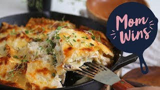 Almost One-Pan Skillet Lasagna with Bev Weidner | Mom Wins | Food Network