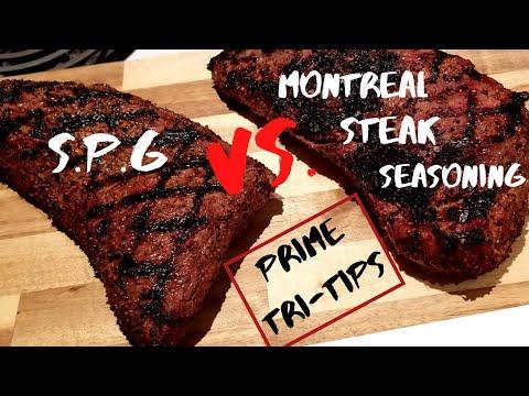 Montreal Steak Seasoning Vs. S.P.G // Tri-tip // Mustard  Binder //