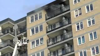 Uitslaande woningbrand 14e etage flatgebouw Enschede