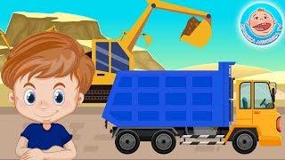 Крошка Антошка и его машинки - Детский стишок про Самосвал  #КрошкаАнтошкаТВ